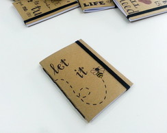 Caderno Kraft Mensagens P - Let it Be