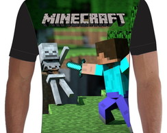 Camiseta Camisa Minecraft Steve Creeper