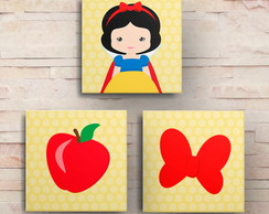Kit Quadros Decorativos Branca de Neve