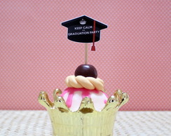 Toppers p/ doces - Keep calm - formatura