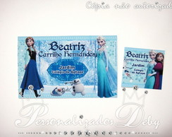 kit 70 etiquetas escolares FROZEN