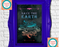Chalkboard - Save the Earth - PEQUENO