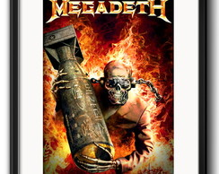 Quadro Megadeth Heavy Metal Rock com Paspatur