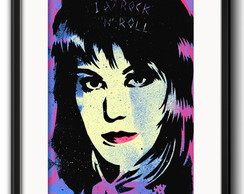 Quadro Joan Jett Pop Art com Paspatur