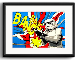Quadro Stormtroopers Pop Art Paspatur