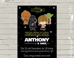 Festa Star Wars, Convite Star Wars