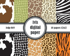 Kit Digital ivdp069 Animal Print