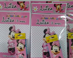 Kit Colorir Da Minie rosa