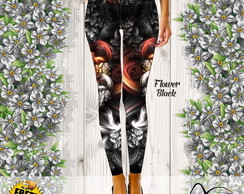 Calça Legging Flower Black