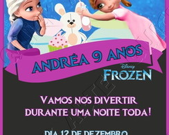 arte digital frozen festa do pijama