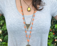 CONJUNTO DE COLARES ORANGE SUMMER