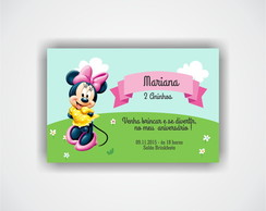 Convite Minnie -- Arte Digital