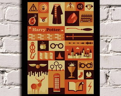 Poster com Moldura Harry Potter -Things