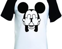 Camiseta Mickey Dedo Do Meio Raglan Mang