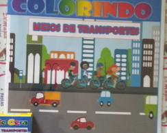 Kit de Colorir Dimagia Meios Transportes