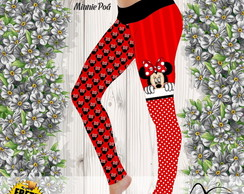 Calça Legging estampa Minnie poá