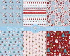 Kit Papel Digital Natal