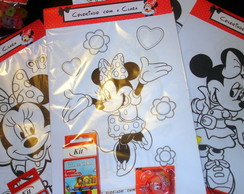 Kit Colorindo com você Minnie