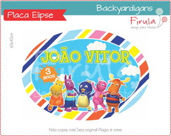 Placa Elipse Digital Backyardigans