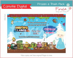 Convite Digital Trash Pack & Frozen