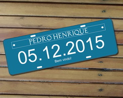 Placa do Carro Infantil