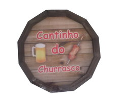 Tampa Barril CANTINHO DO CHURRASCO