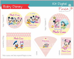 Kit Festa Digital Baby Disney Rosa