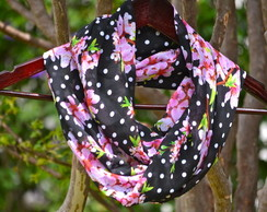 Infinity Scarf Dots & Flowers