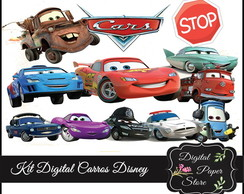KITS SCRAPBOOK DIGITAL CARROS DISNEY