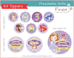 Kit Digital Toppers Princesa Sofia