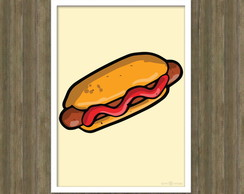 Poster Hot Dog Arte Digital A4