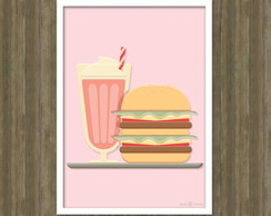Poster Milk Shake Arte Digital A4