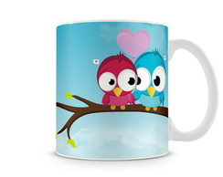 Caneca Birds In Love
