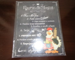 Placas Decorativas Regras da Familia