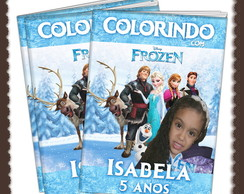 Revista de colorir Frozen ARTE