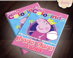 Revista de colorir Pepppa Pig ARTE