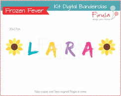 Kit Digital Bandeirolas Frozen Fever