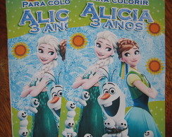 Revista colorir Frozen Fever 14x10