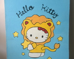 hello kitty quadro decorativo