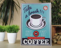Placa Coffee vintage