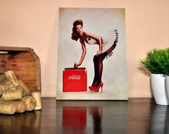 Placa Coca Cola pin up