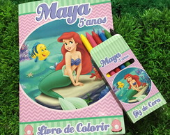 Kit de Colorir Pequena Sereia / Ariel