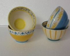 Bowl Yellow and Blue