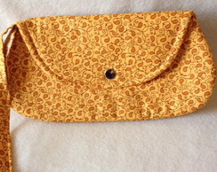 Mini Clutch Bella Floral Laranja