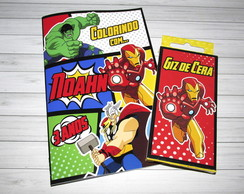 Kit Colorir Vingadores {Lapela}