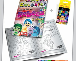 Kit de Colorir (Revista + Giz + Lapela)