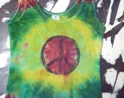 Baby look tie dye estampa hippie