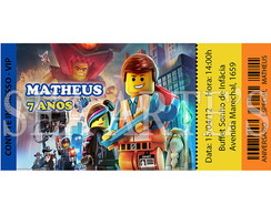 Arte Convite Digital - Lego Movie