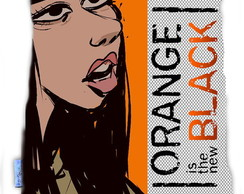Almofada Orange is The New Black Flaca