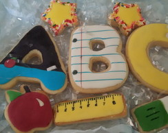 Biscoito decorado - Kit ABC